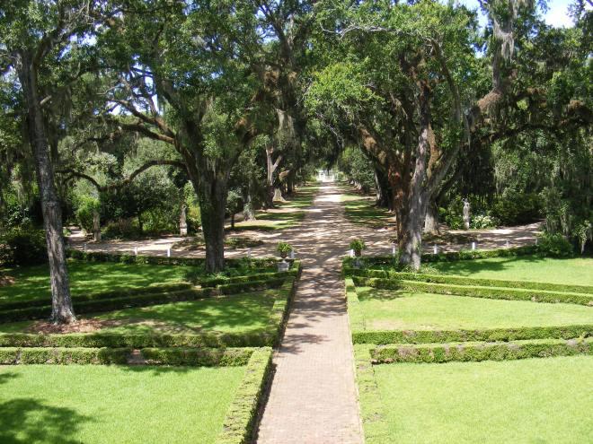 Rosedown Plantation - Gardens from Balcony
