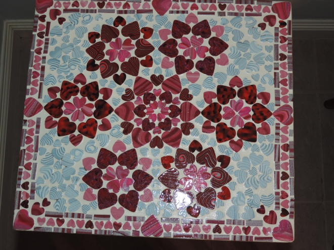End Table - Top (Hearts)
