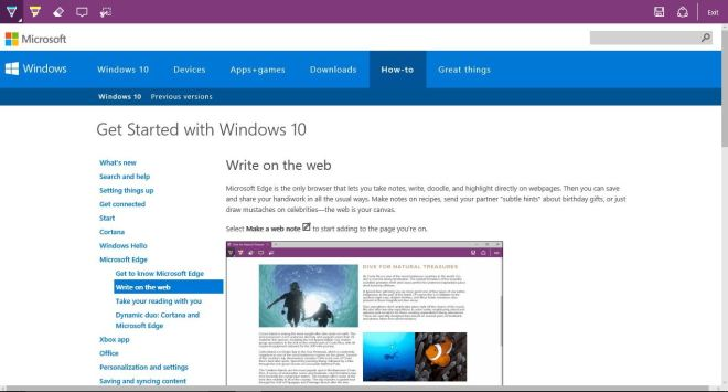 Windows edge write