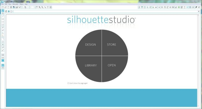 Silhouette Studio Start Screen