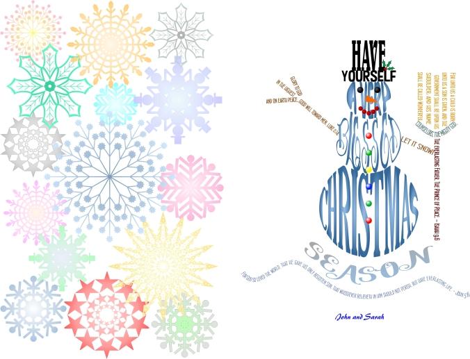 2017 Card Snowman