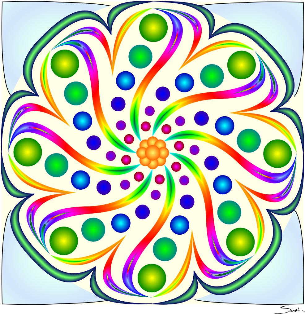 thin swirls color