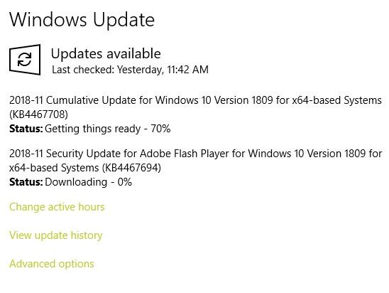 no download windows update