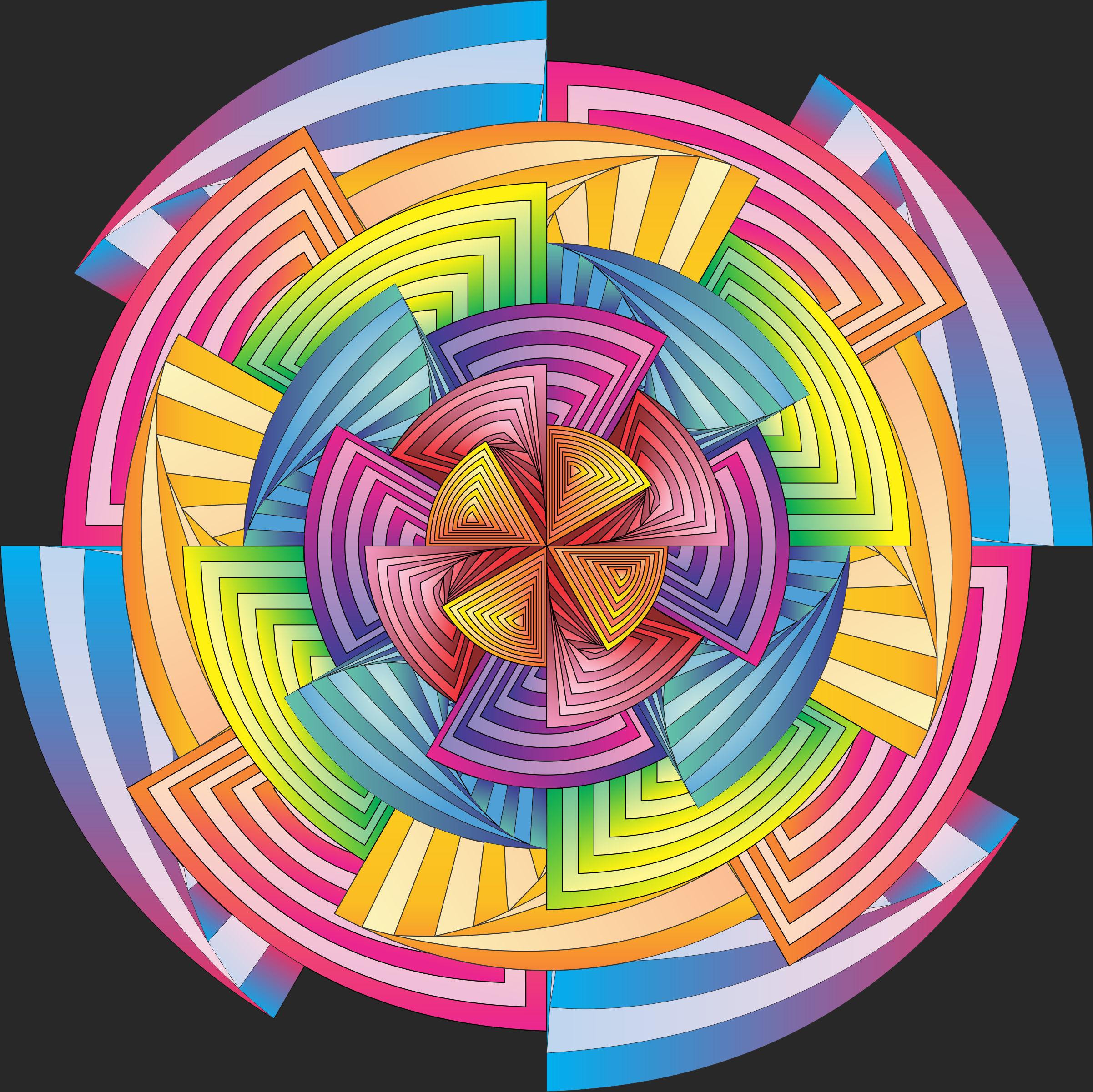 geo flower twirl color