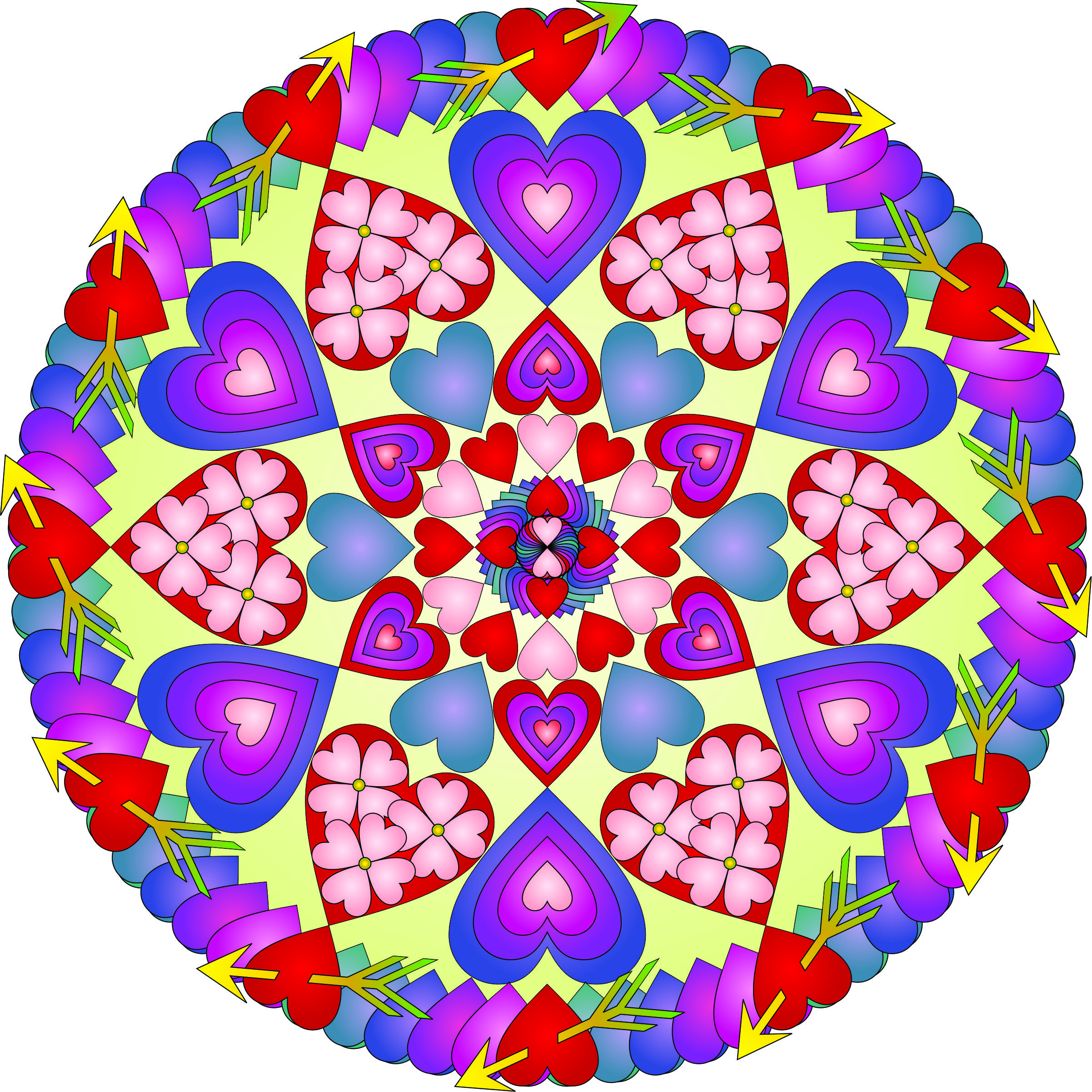 Hearts All Over Color